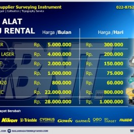 Rental Sewa Alat Survey